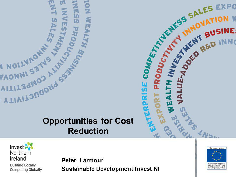 Peter Larmour Sustainable Development Invest NI Opportunities for Cost Reduction