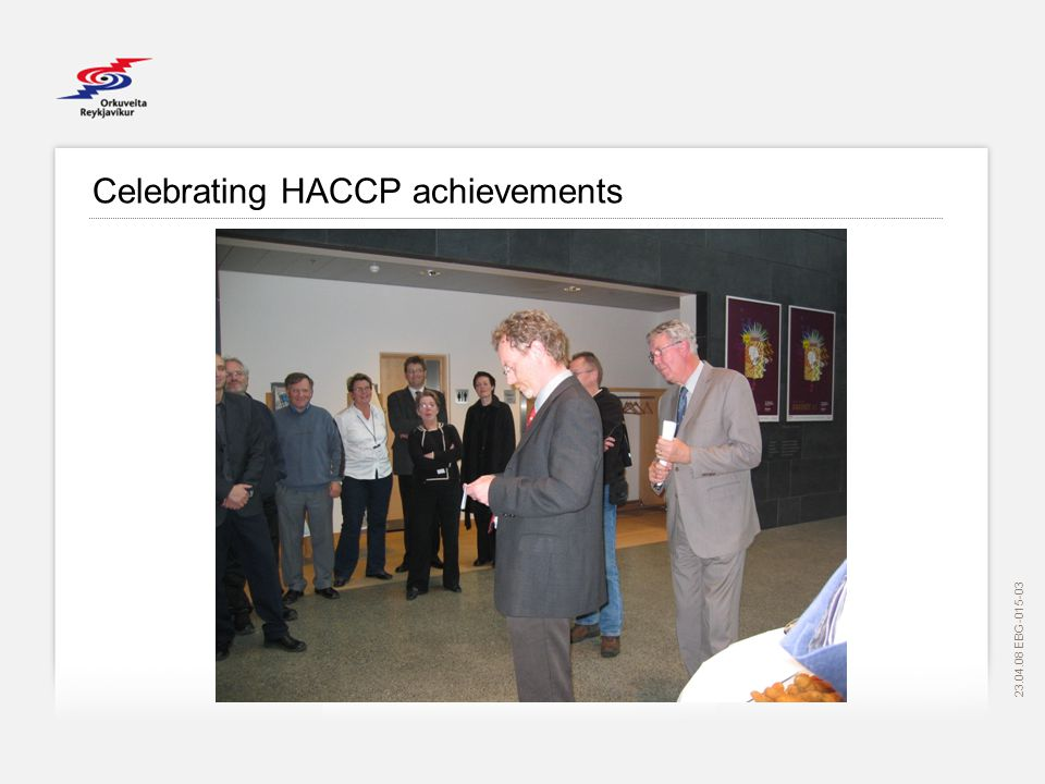 EBG Celebrating HACCP achievements
