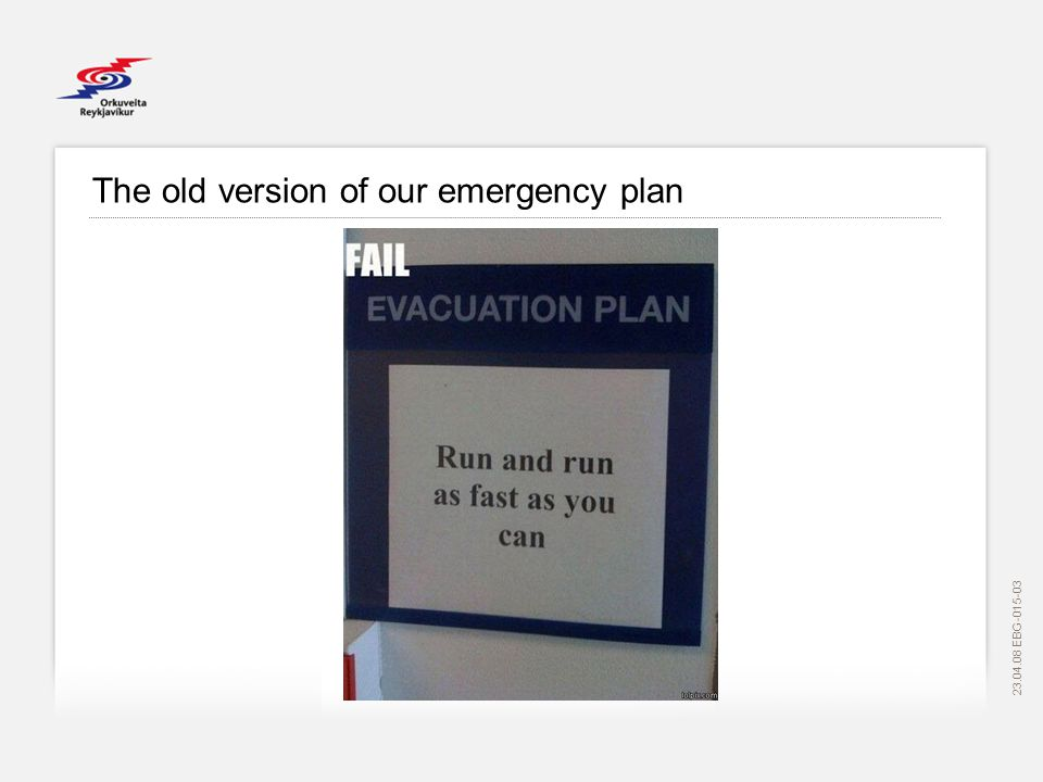 EBG The old version of our emergency plan