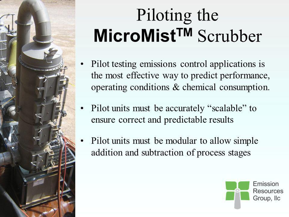 Emissions Control Technology Comparison PM (front) PM (back) SO 2 H 2 SO 4 MicroMist TM Scrubber xxxx ESP x--- ESP & SO 2 Scrubber xsomex- ESP, SO 2 S