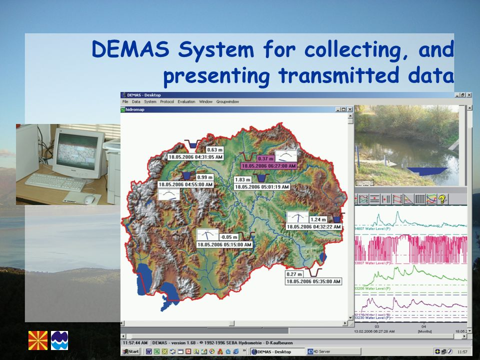 DEMAS System for collecting, and presenting transmitted data