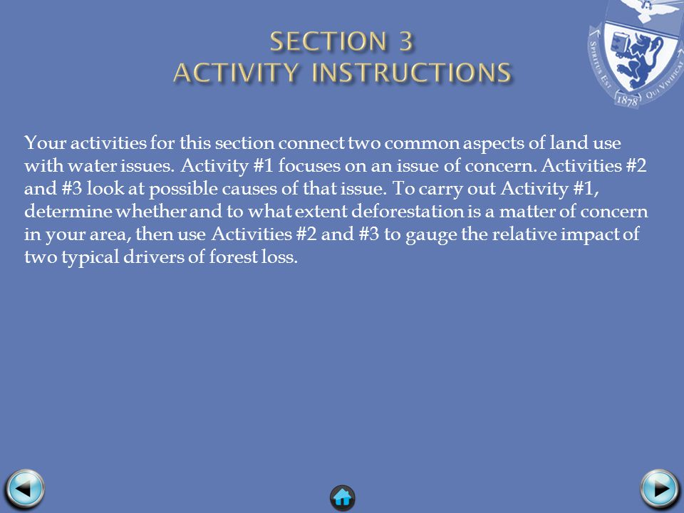 Your activities for this section connect two common aspects of land use with water issues.