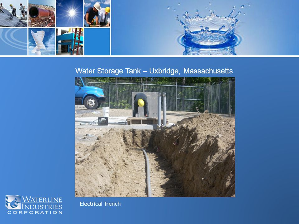 Electrical Trench Water Storage Tank – Uxbridge, Massachusetts