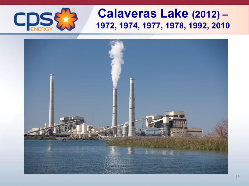 15 Calaveras Lake (2012) – 1972, 1974, 1977, 1978, 1992, 2010 15