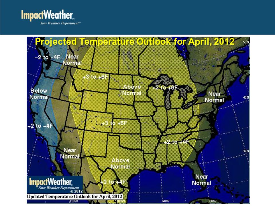 Projected Temperature Outlook for April, 2012