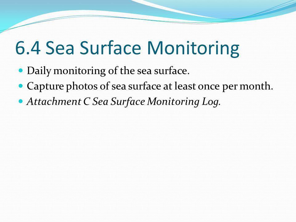 6.4 Sea Surface Monitoring Daily monitoring of the sea surface.