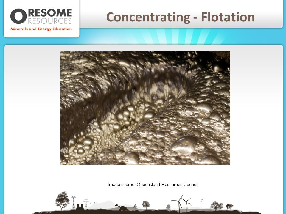 Concentrating - Flotation Image source: Queensland Resources Council
