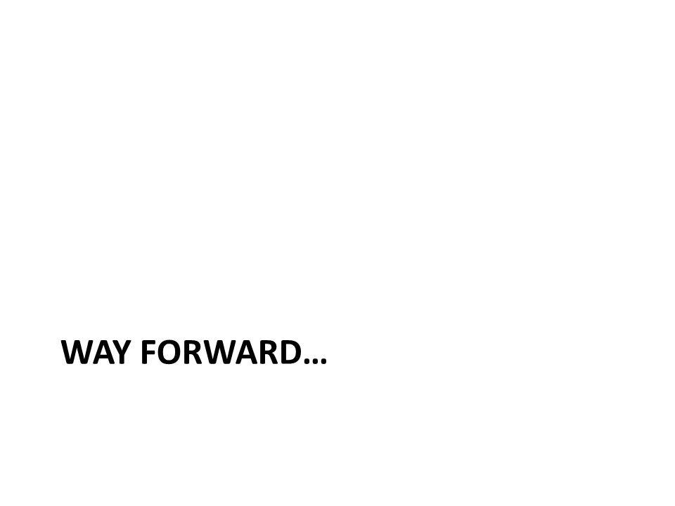 WAY FORWARD…