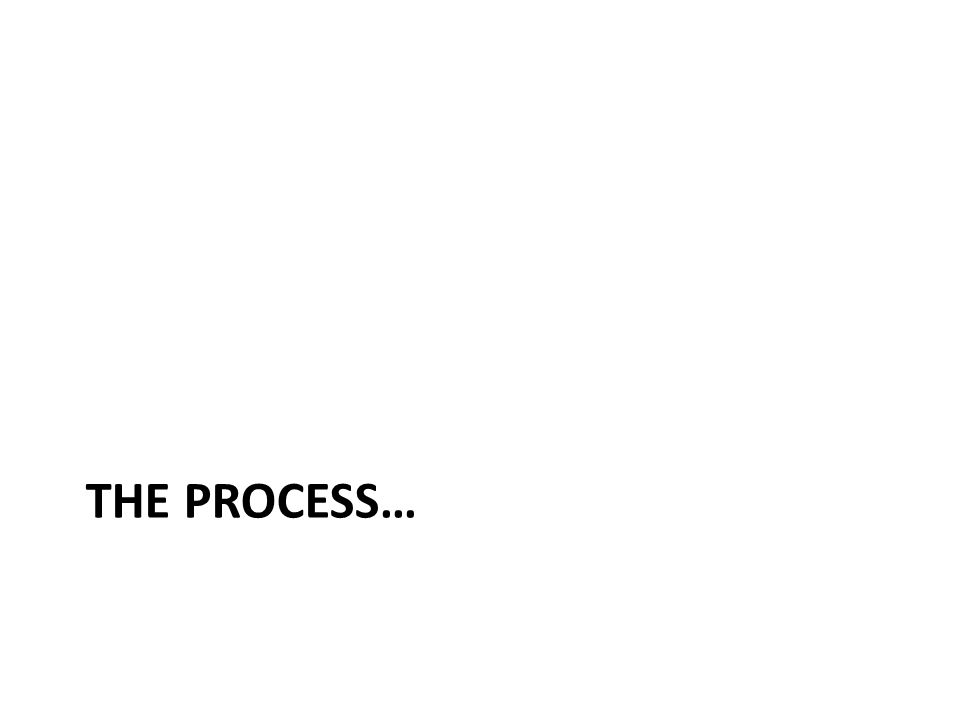 THE PROCESS…