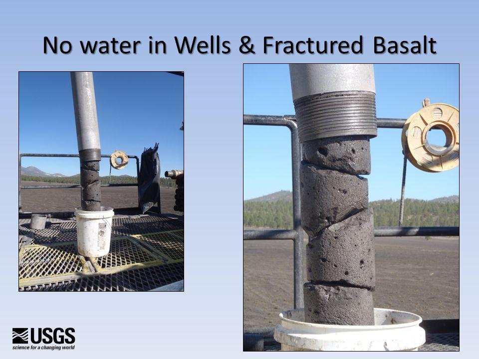 No water in Wells & Fractured Basalt