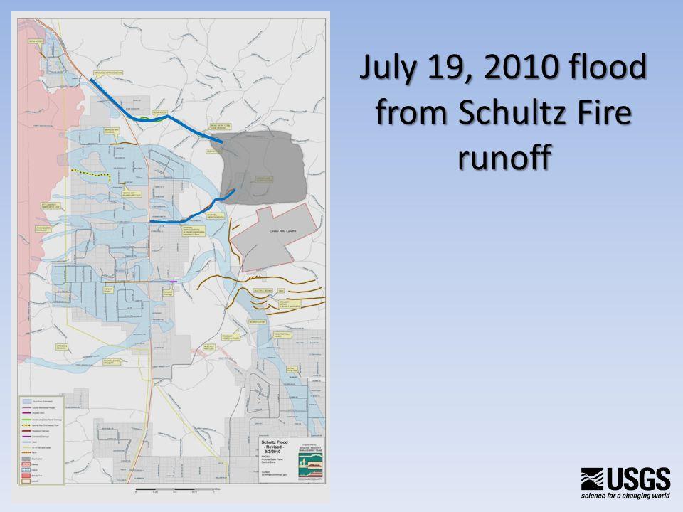July 19, 2010 flood from Schultz Fire runoff