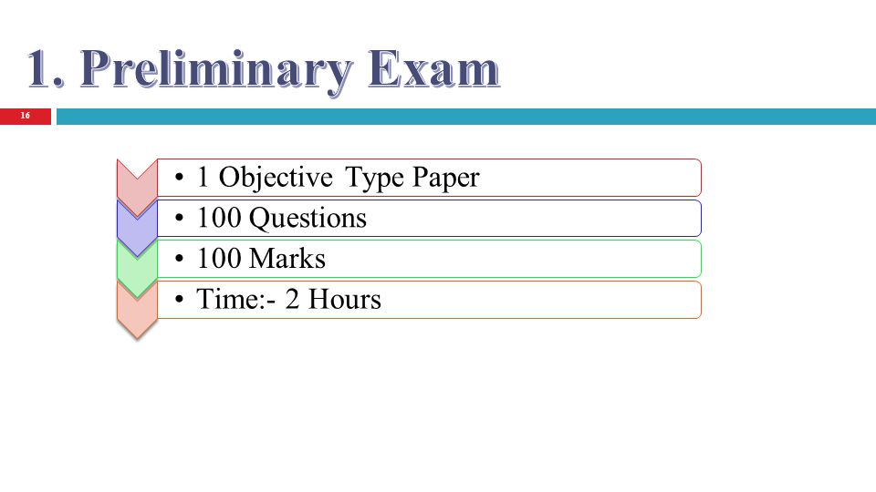 16 1 Objective Type Paper 100 Questions 100 Marks Time:- 2 Hours