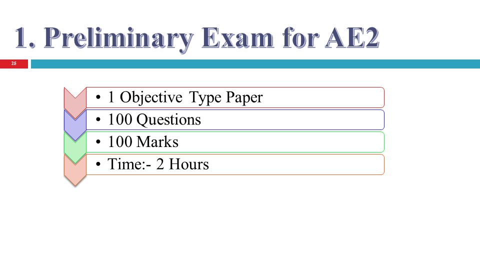 25 1 Objective Type Paper 100 Questions 100 Marks Time:- 2 Hours