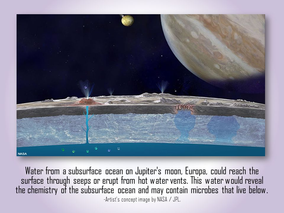 A possible model of Europas interior An example of an orbiter passing over Europa The trailing hemisphere of EuropaInternal structure of Europa