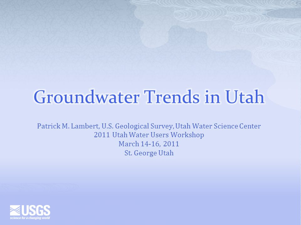 The groundwater resource in Utah