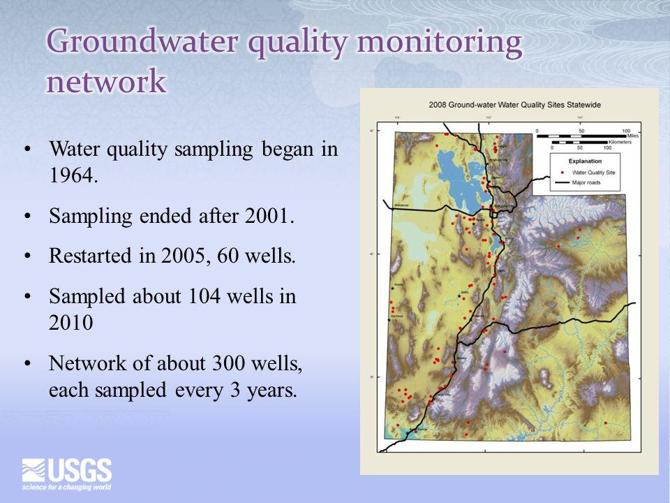 Water quality sampling began in 1964. Sampling ended after 2001.