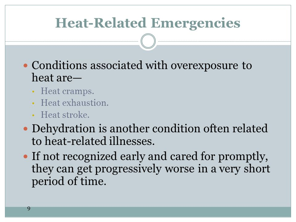 20 Cold-Related Emergencies Frostbite and hypothermia are two types of cold-related emergencies.