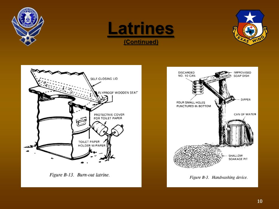 Latrines (Continued) 10