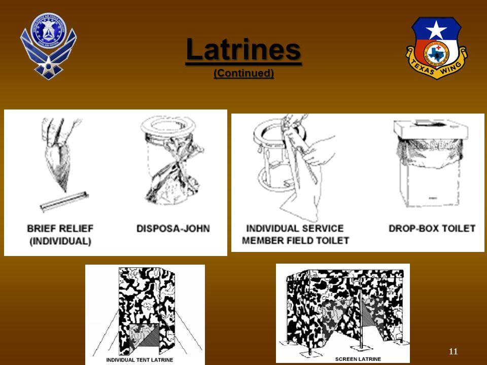 Latrines (Continued) 11