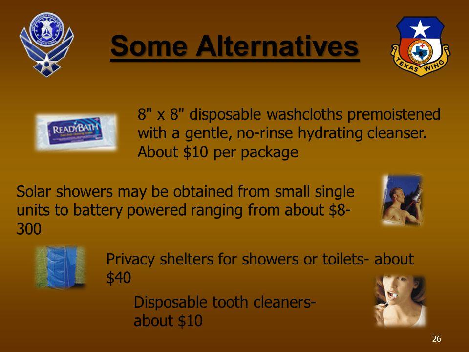 Some Alternatives 8