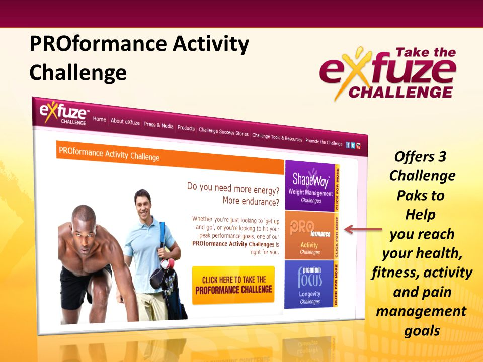 PROformance Activity Challenge Offers 3 Challenge Paks to Help you reach your health, fitness, activity and pain management goals