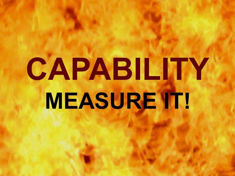 CAPABILITY MEASURE IT!