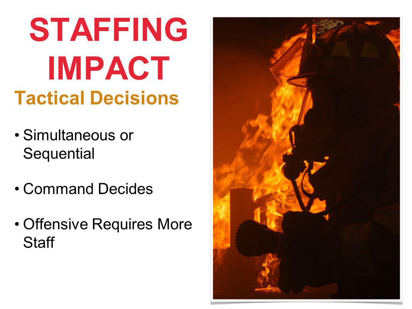 STAFFING IMPACT Tactical Decisions Simultaneous or Sequential Command Decides Offensive Requires More Staff