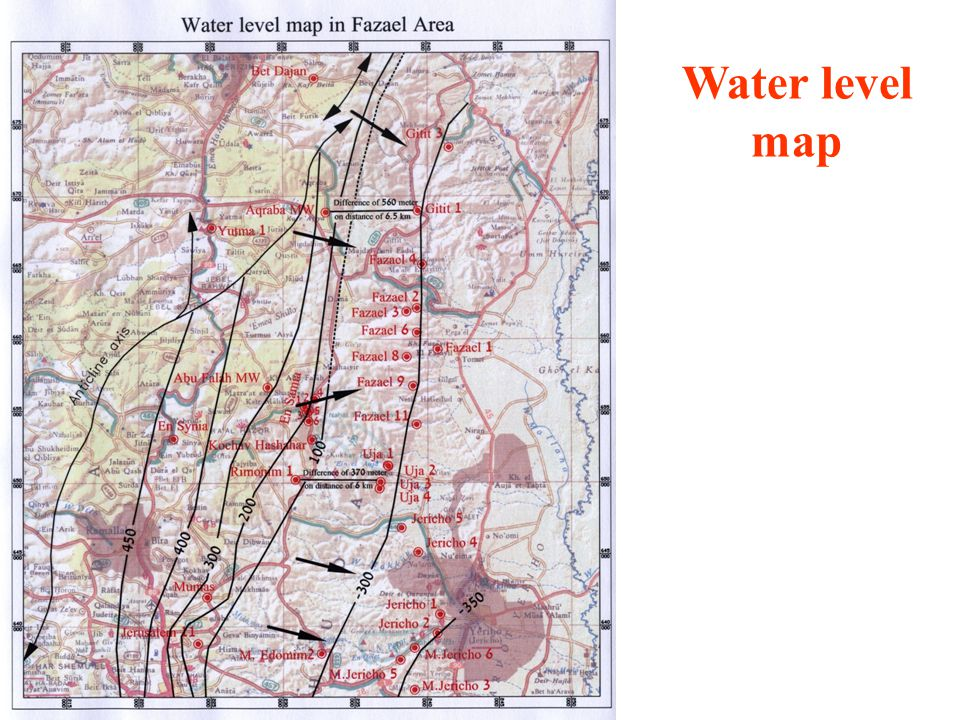Water level map