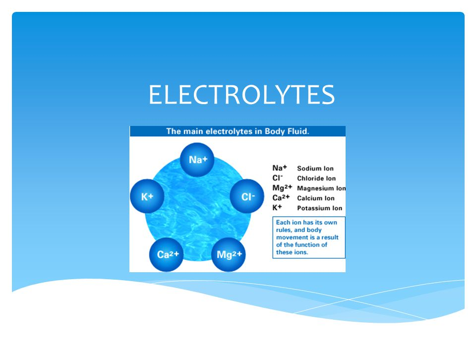 Are particles that carry electrical charge and are present in blood, plasma and urine.