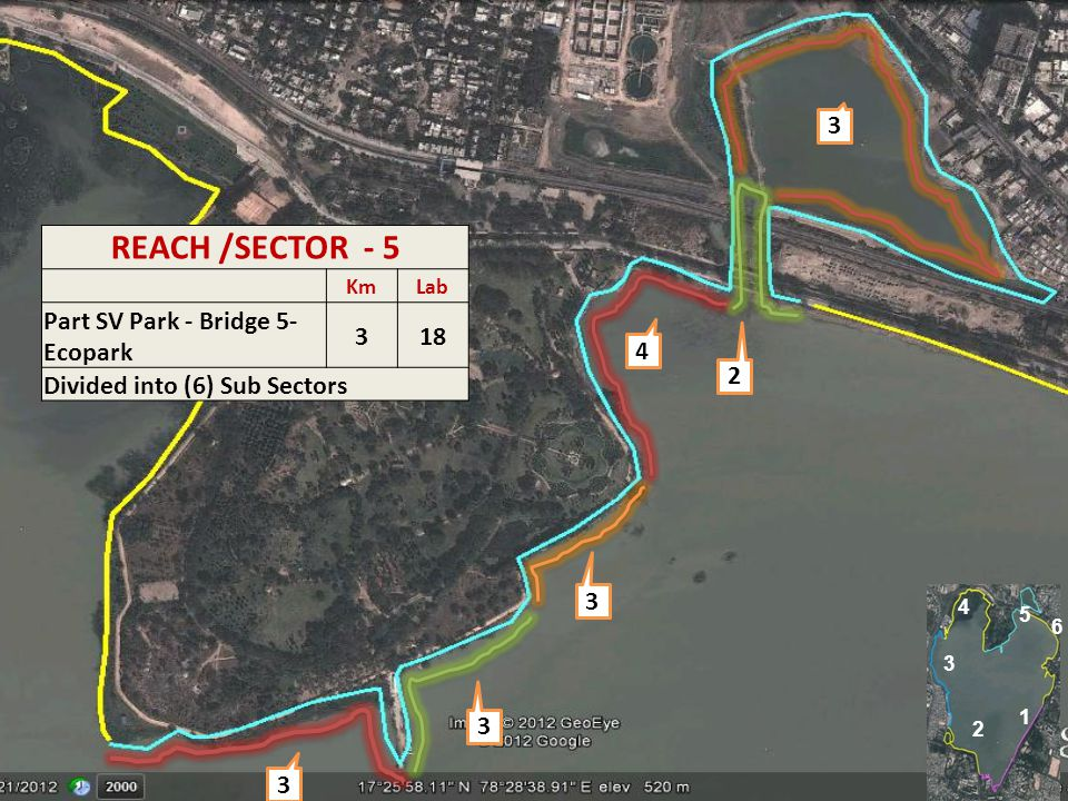 17 3 3 3 4 2 3 REACH /SECTOR - 5 KmLab Part SV Park - Bridge 5- Ecopark 318 Divided into (6) Sub Sectors 1 2 4 5 6 3