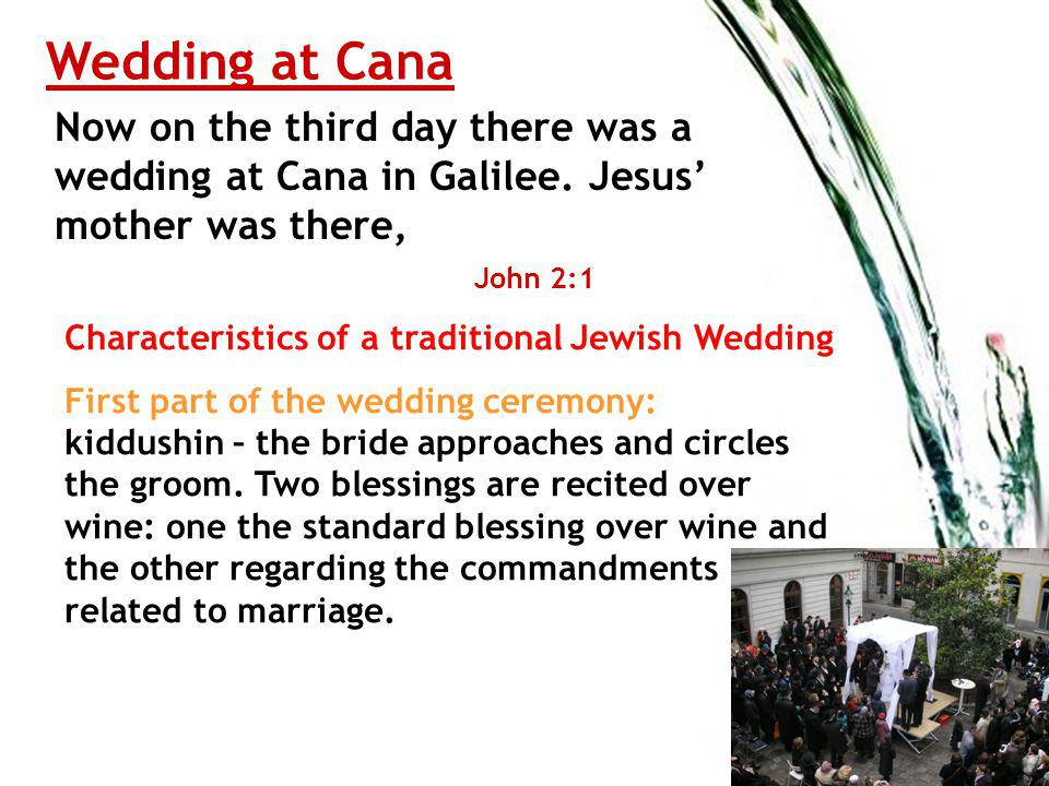 Wedding at Cana Now on the third day there was a wedding at Cana in Galilee.