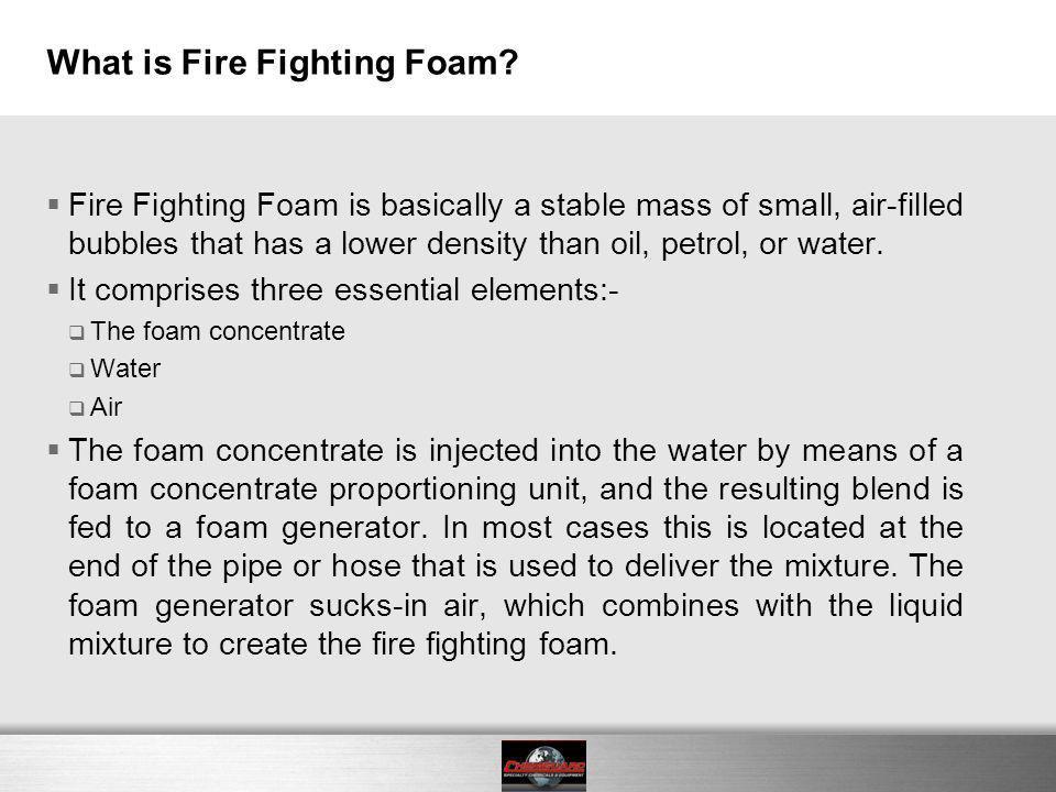 How foam works .
