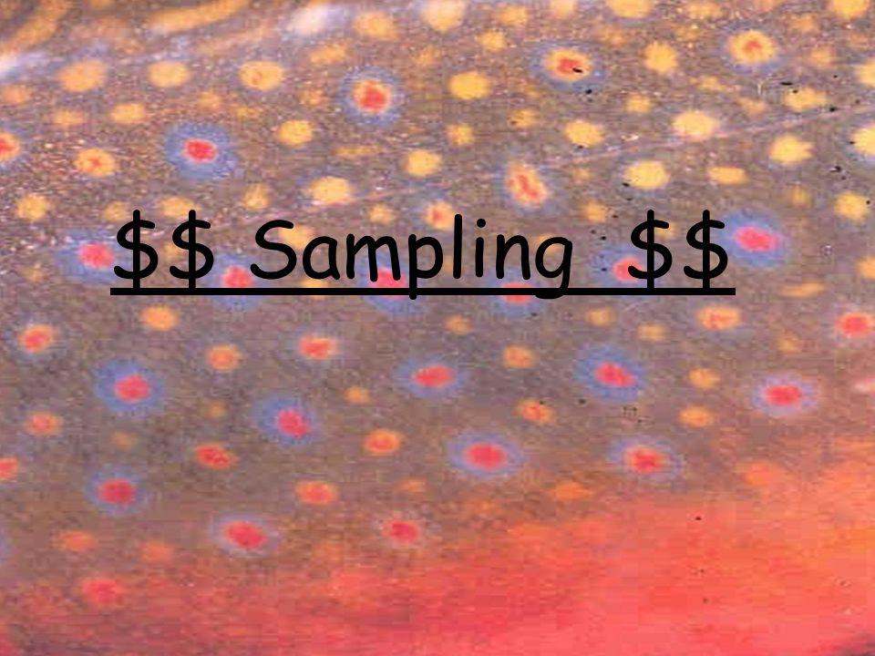 $$ Sampling $$