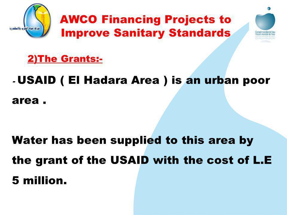 - USAID ( El Hadara Area ) is an urban poor area.