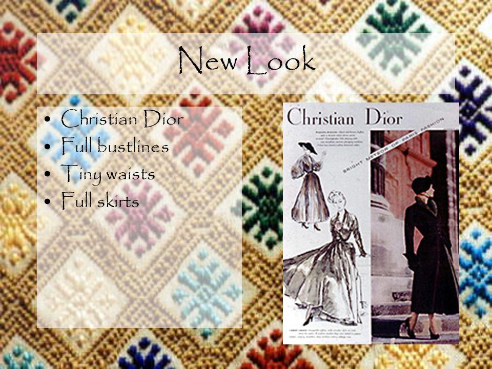 New Look Christian Dior Full bustlines Tiny waists Full skirts