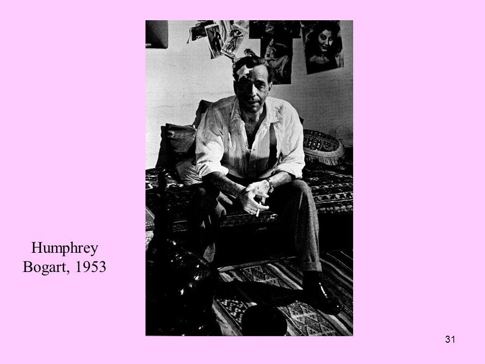 31 Humphrey Bogart, 1953