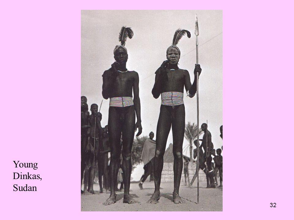 32 Young Dinkas, Sudan