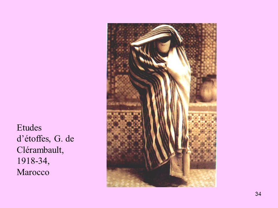 34 Etudes détoffes, G. de Clérambault, 1918-34, Marocco