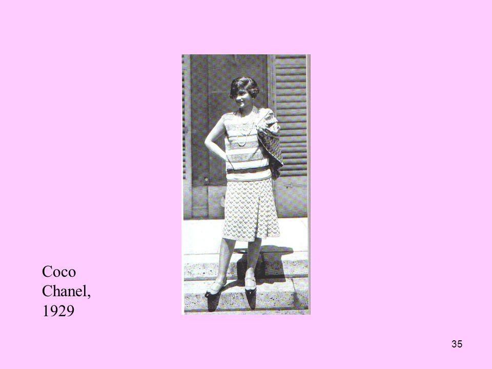 35 Coco Chanel, 1929