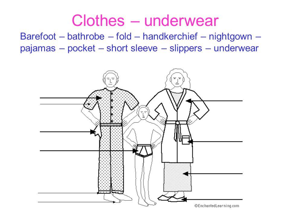 Clothes – summer Cap – dress – hat – pin – ring – roller skates – sandals – shorts – socks – sunglasses – swimsuit – T-shirt – watch