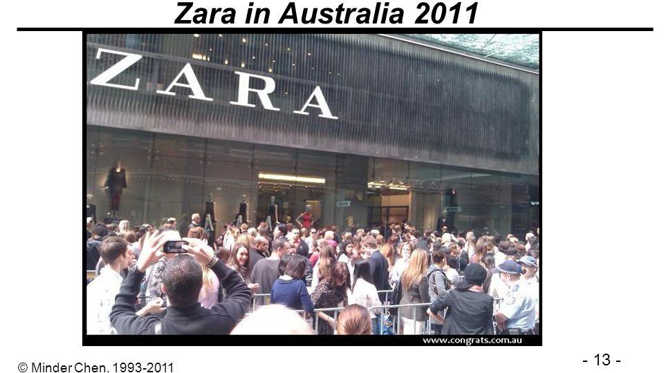 - 13 - © Minder Chen, 1993-2011 Zara in Australia 2011