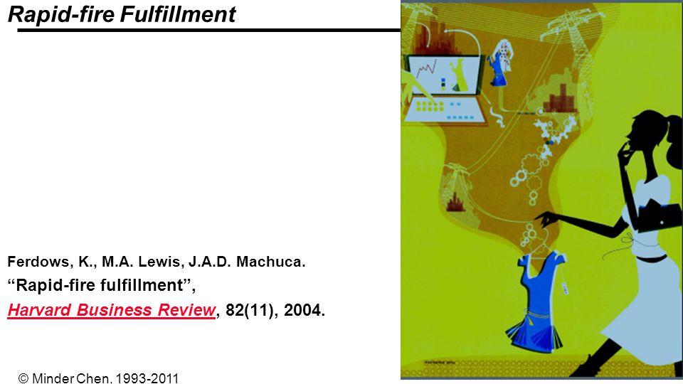 - 35 - © Minder Chen, 1993-2011 Rapid-fire Fulfillment Ferdows, K., M.A. Lewis, J.A.D. Machuca. Rapid-fire fulfillment, Harvard Business ReviewHarvard