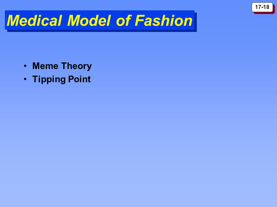 17-18 Medical Model of Fashion Meme Theory Tipping Point