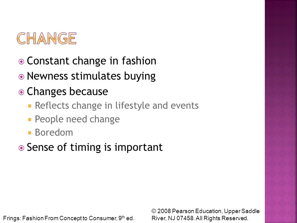 Frings: Fashion From Concept to Consumer, 9 th ed.