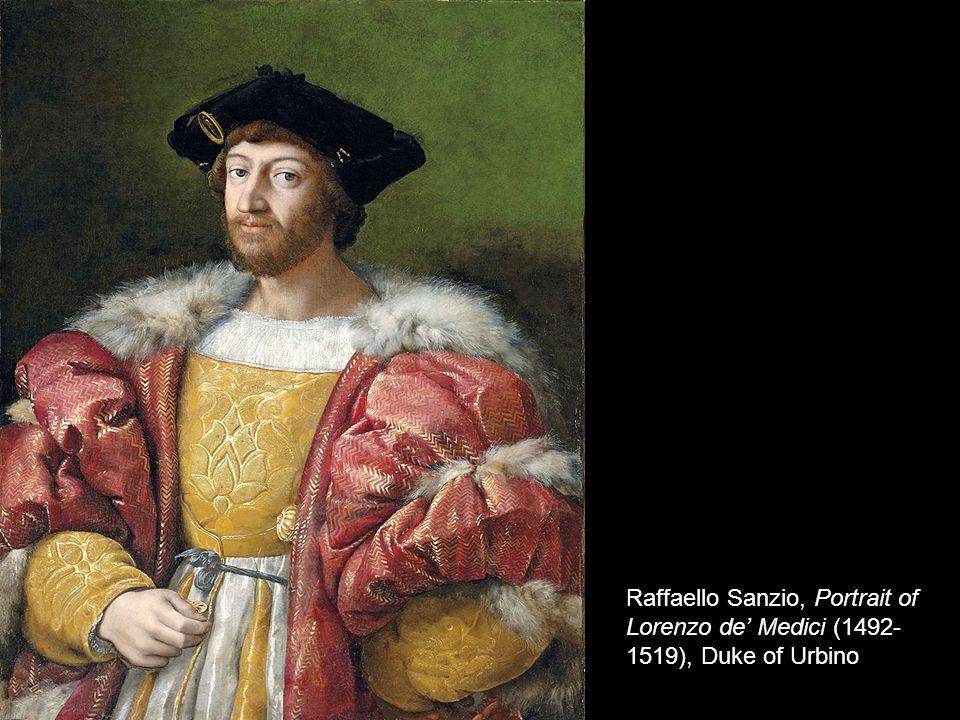 Raffaello Sanzio, Portrait of Lorenzo de Medici (1492- 1519), Duke of Urbino