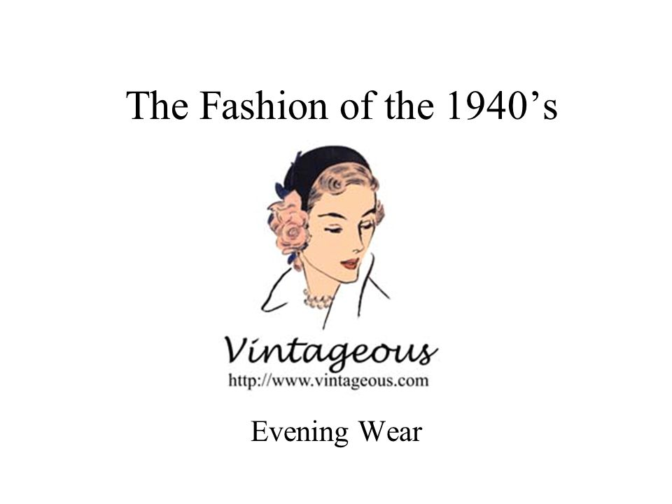 The Fashion of the 1940s Evening Wear