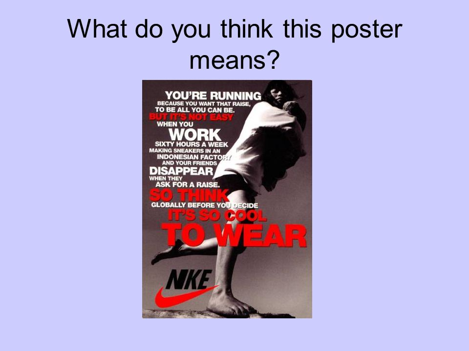 What do you think this poster means