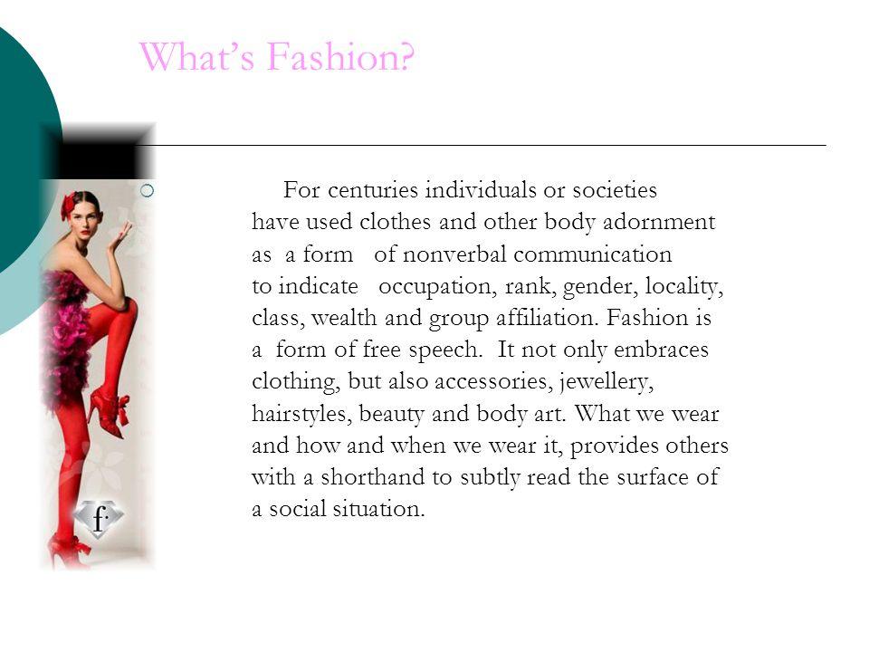 Whats Fashion.