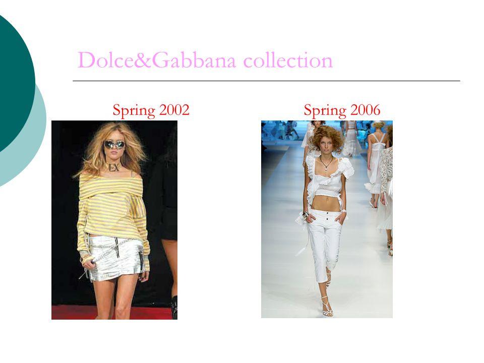 Dolce&Gabbana collection Spring 2006 Spring 2002