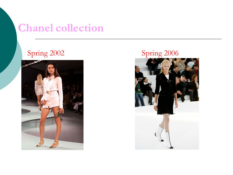 Chanel collection Spring 2002 Spring 2006